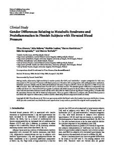 Clinical Study Gender Differences Relating to ... - BioMedSearch