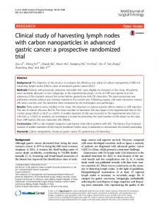 Clinical study of harvesting lymph nodes with carbon ... - Core