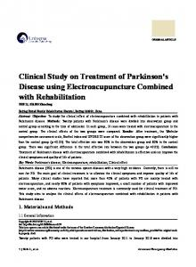 Clinical Study on Treatment of Parkinson's Disease using