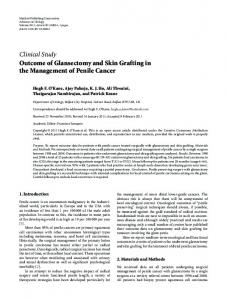 Clinical Study Outcome of Glansectomy and Skin Grafting in the