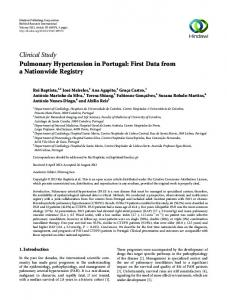 Clinical Study Pulmonary Hypertension in Portugal ...