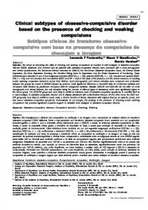 Clinical subtypes of obsessive-compulsive ... - Semantic Scholar