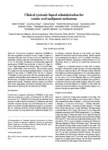 Clinical systemic lupeol administration for canine oral malignant ...