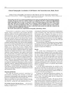 Clinical Tomographic Correlations of 220 Patients