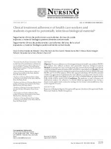 Clinical treatment adherence of health care