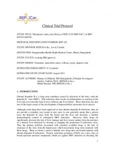 Clinical Trial Protocol - PLOS