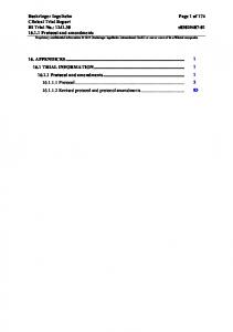 Clinical Trial Protocol Template