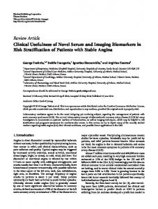 Clinical Usefulness of Novel Serum and Imaging Biomarkers in Risk ...