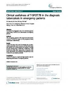 Clinical usefulness of T-SPOT.TB in the diagnosis ... - Springer Link