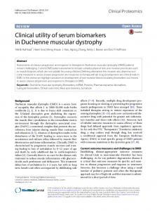 Clinical utility of serum biomarkers in Duchenne muscular ... - Core
