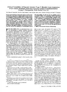 Clinical Variability of Fanconi Anemia (Type C ...