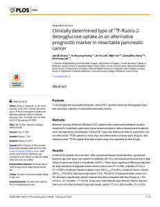Clinically determined type of 18F-fluoro-2-deoxyglucose ... - PLOS