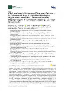 Clinicopathologic Features and Treatment Outcomes in ... - MDPI