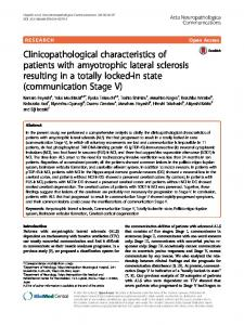 Clinicopathological characteristics of patients with