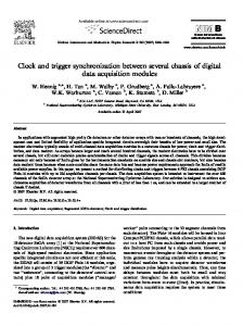 Clock and Trigger Synchronization between Several Chassis of ... - arXiv