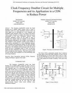 Clock Frequency Doubler Circuit for Multiple ... - IEEE Xplore