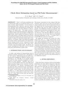 Clock Jitter Estimation based on PM Noise ... - Semantic Scholar