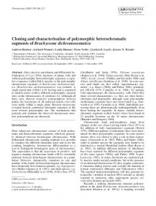 Cloning and characterisation of polymorphic ... - Springer Link