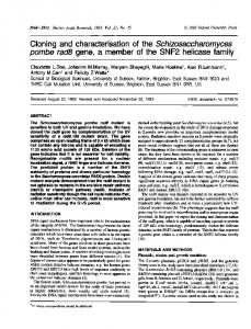 Cloning and characterisation ofthe ... - BioMedSearch