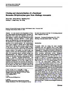Cloning and characterization of a functional flavanone ... - Springer Link