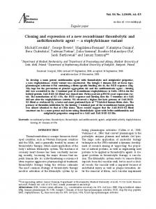 Cloning and expression of a new recombinant