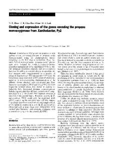 Cloning and expression of the genes encoding the ...
