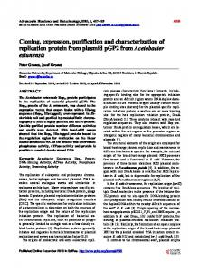 Cloning, expression, purification and
