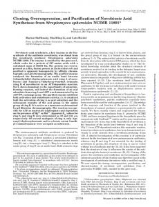 Cloning, Overexpression, and Purification of ...
