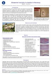 Closantel toxicity in lambs in Norway