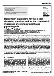 Closed form expressions for the modal dispersion ... - IEEE Xplore