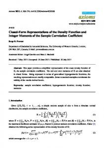 Closed-Form Representations of the Density Function and Integer