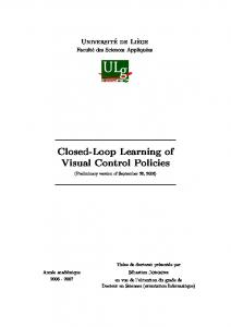 Closed-Loop Learning of Visual Control Policies