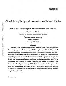 Closed String Tachyon Condensation on Twisted Circles