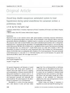 Closedloop doublevasopressor automated system to treat ...