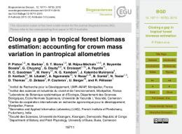 Closing a gap in tropical forest biomass estimation - Semantic Scholar