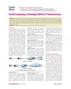 Cloud Computing: A Paradigm Shift in IT Infrastructure (PDF ...