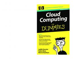 Cloud Computing For Dummies, HP Special Edition