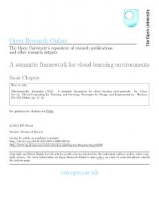 Cloud Computing for Teaching and Learning: Strategies for Design