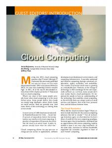 Cloud Computing - IEEE Xplore