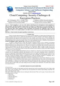 Cloud Computing - IJARCSSE