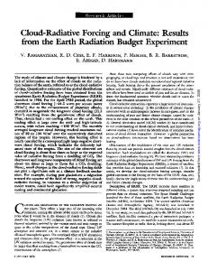 Cloud-Radiative Forcing and Climate: Results