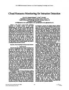 Cloud Resource Monitoring for Intrusion Detection - IEEE Xplore