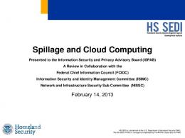 Cloud Security Challenges: Spillage and Cloud Computing