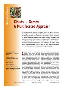 Clouds + Games: A Multifaceted Approach - IEEE Xplore