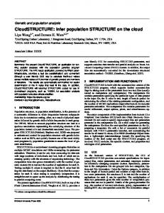CloudSTRUCTURE: infer population STRUCTURE on the cloud