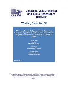 CLSRN Working Paper - Canadian Labour Market and Skills ...