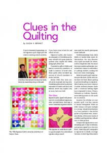 Clues in the Quilting