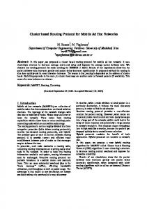 Cluster based Routing Protocol for Mobile Ad Hoc Networks - CiteSeerX