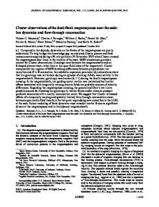 Cluster observations of the dusk flank ... - Wiley Online Library