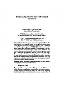Clustering Algorithm for Network Constraint ... - Semantic Scholar